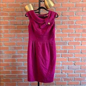 Dresses & Skirts - Eliza J Missy magenta workwear dress